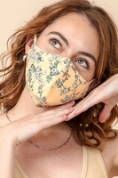 3-Layer Floral Face Cover Washable Reusable (Pack of 10) $30.00=$3.00 each