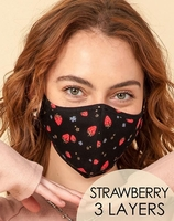 3-Layer Strawberry Washable Reusable (Pack of 10) $20.00=$2.00 each