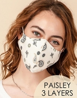3-Layer Paisley Face Cover Washable Reusable (Pack of 10) $20.00=$2.00 each