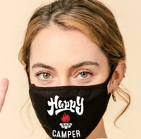 3-Layer Happy Camper Face Washable Reusable (Pack of 10) $45.00=$4.50 each