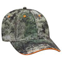 Image OTTO CAP Mossy Oak Superior Polyester Twill Sandwich Visor