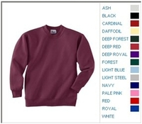 Blank Shirts : Hanes 7.8 oz 50/50 Youth Crewneck