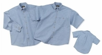 Cobra-6.5 oz. Washed Sky Blue Denim Long Sleeve Shirt
