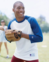 Champion 5.7 oz Cotton Tagless Raglan Baseball Jersey