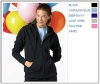 Hanes 8 oz 80/20 Ladies Fleece Full-Zip Hoodie