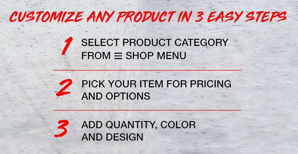 Customize in 3 Easy Steps
