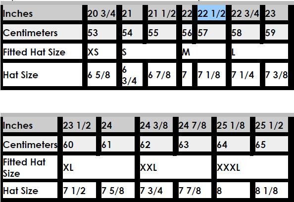 4e7c7e84b5e Cap Size Charts